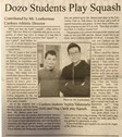 Cordozo School Plays Squash